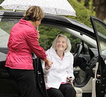 Picture of an advisor with a client, Housing & Care Advisor, Greater Puget Sound