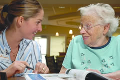 Picture of Housing & Care Advisor with a client, Housing & Care Advisor, Greater Puget Sound